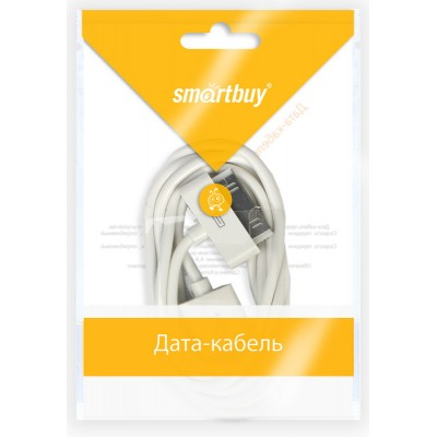 Кабель Smartbuy USB - 30-pin для Apple (iPhone 4/4S), длина 1,2 м (iK-412)