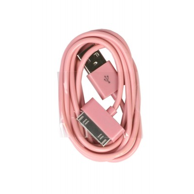 Кабель Smartbuy USB - 30-pin для Apple, цветные, длина 1,2 м, розовый (iK-412c pink)