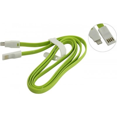 Кабель Smartbuy USB - 8-pin для Apple, магнитный, 1,2 м, зеленый (iK-512m green)