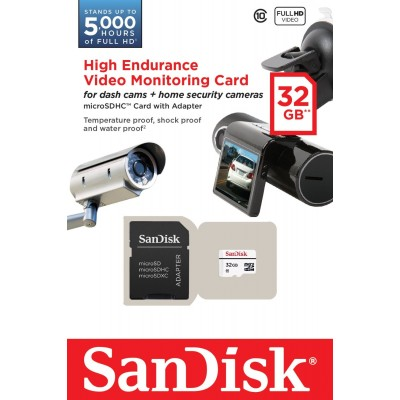 32GB micro SDHC карта памяти SanDisk Class10 High Endurance Video Monitoring