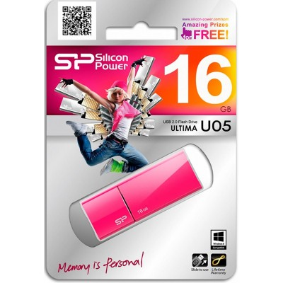 16GB USB Silicon Power Ultima U05 Peach