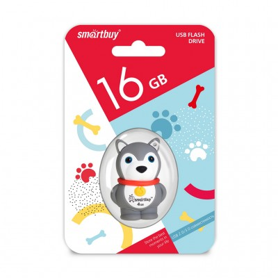 16GB USB Smartbuy Wild series Собачка (SB16GBDgr)