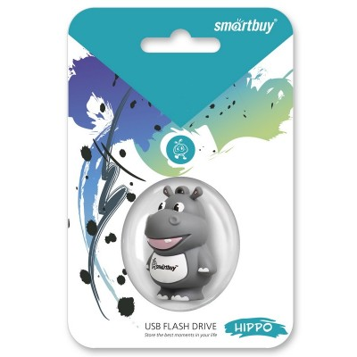 16GB USB Smartbuy Wild series Гиппопотам (SB16GBHip)