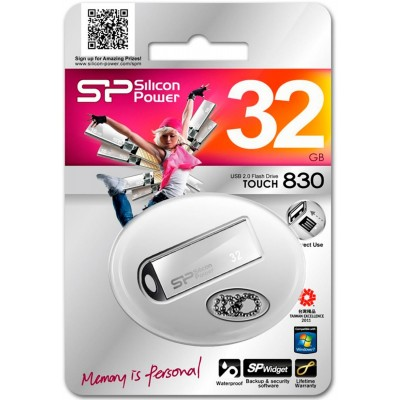 32GB USB Silicon Power Touch 830 Silver