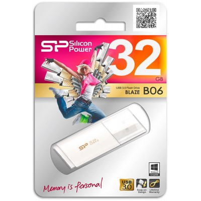 32GB USB Silicon Power Blaze B06 White, 3.0