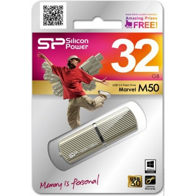32GB USB Silicon Power Marvel M50 Champagne, 3.0