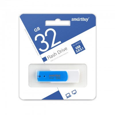 32GB USB Smartbuy Diamond Blue, 3.0  (SB32GBDB-3)