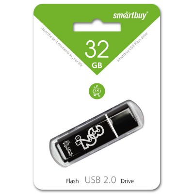 32GB USB Smartbuy Glossy series Black