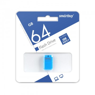 64GB USB Smartbuy ART Blue, 3.0 (SB64GBAB-3)