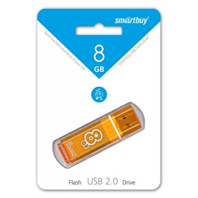 8GB USB Smartbuy Glossy series Orange (SB8GBGS-Or)